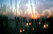 Frost auf Fenster