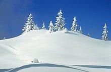 Bayern : Landschaft - Schnee
