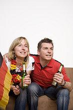Fußballfan,sehen,Spiel,Fernsehen,Fußball
