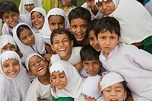 Muslimische Kinder habend Spaß fotografieren, Jodhpur, Rajasthan, Indien