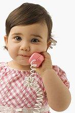 Mädchenbildnis mit einem Spielzeug-Telefon
