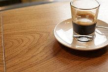 Ein Glas Kaffee