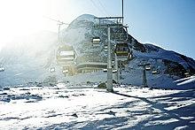 Gondelbahn, Zermatt, Schweiz, Flachwinkelansicht