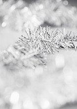 Closeup auf Weihnachtsbaum tinsel