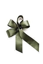 Olivgrüne Geschenkschleife