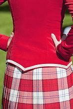 Schottische Tänzerin, Pitlochry, Perthshire, Schottland