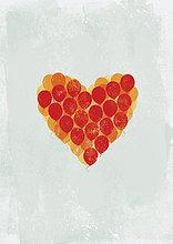 Luftballons in Herzform