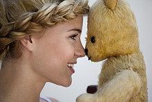 lächeln ,Teddy, Teddybär ,Mädchen