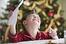 Europäer,schreiben,Junge - Person,Weihnachten