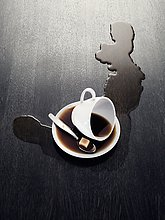 Tasse ,verschütten ,Kaffee