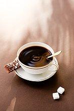 hoch, oben ,schwarz ,Ansicht ,Flachwinkelansicht ,Kaffee ,Winkel ,Keks