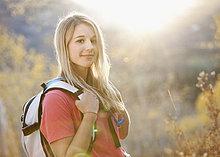 Vereinigte Staaten von Amerika, USA ,Portrait ,Frau ,Wald ,wandern ,jung ,Utah