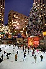 Vereinigte Staaten von Amerika, USA ,Einkaufszentrum ,New York City ,Baum ,Eis ,Weihnachten