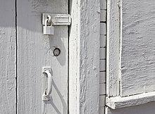 Tür,Türschloss,Schloss,Schlösser,gekalkt