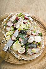 Sardine ,Pizza ,Radieschen ,Grießknödel