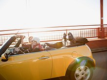 Vereinigte Staaten von Amerika,USA,Auto,gelb,Kalifornien,Golden Gate Bridge,San Francisco
