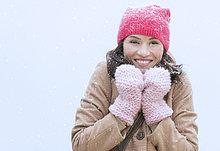 Portrait ,Frau ,Winter ,Kleidung
