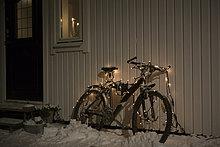 Beleuchtung, Licht ,Fahrrad, Rad ,Fee ,Schnee