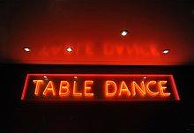 Neon Reklame, Table Dance, Kiez, St. Pauli, Reeperbahn, Hamburg, Deutschland, Europa