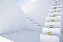 Stufe ,grün ,weiß ,Apfel ,modern
