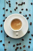 Holztisch,Kaffeebohne,Close-up,Kaffee,Bohne,Espresso