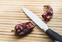 Messer,Peperoni,getrocknet