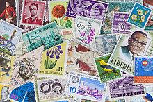 Briefmarkensammlung, Nahaufnahme