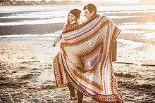 spazierengehen, spazieren gehen ,Strand ,Decke ,Verpackung ,umwickelt