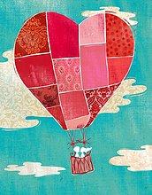Wolke,Wärme,Himmel,Luftballon,Ballon,Illustration