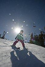 lernen,Ski,Mädchen