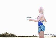 junge Frau,junge Frauen,Strand,einlochen