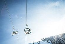 Österreich, Salzburger Land, Region Hochkönig im Winter, Ski Amade, Skilift