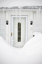 Tür,Eiszapfen,Schnee