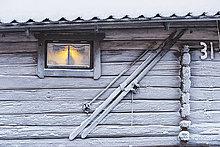 Ski,Blockhaus,Holzhaus