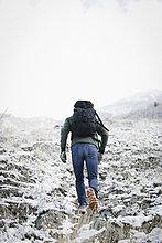 Rucksack,Berg,Mann,tragen,wandern