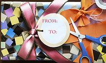 Geschenk,Schere,Verpackung,umwickelt
