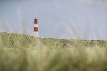 Leuchtturm List Ost, Ellenbogen, Sylt, Schleswig-Holstein, Deutschland, Europa