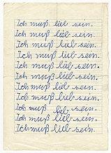 Erzieherische Kinderbestrafung um 1960, Ich muss lieb sein, Deutschland, Europa