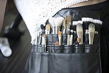Maskenbildner-Pinselbeutel, Nahaufnahme