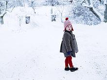 Portrait,Mädchen,Schnee