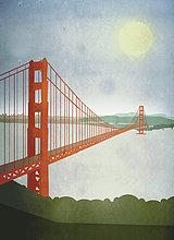 über,Illustration,Bucht,Golden Gate Bridge