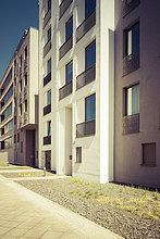 Fassaden moderner Mehrfamilienhäuser