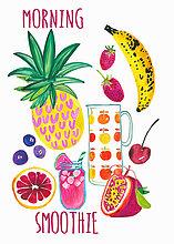 Frische Früchte als Zutaten für einen gesunden morgendlichen Smoothie