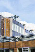 Deutschland, Geislingen an der Steige, energieeffizienter Umbau eines Schulgebäudes