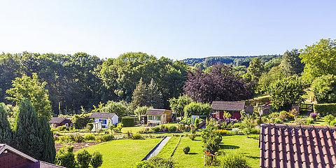Germany, Esslingen, garden allotments
